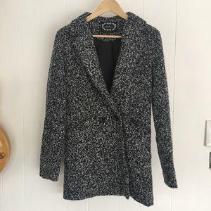 Ambiance black and white pea coat